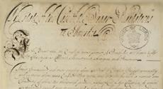 Detail of handwritten document