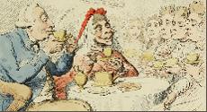 Detail of a satirical political cartoon.