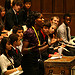 MYP Miss Funmi Abari introduces university funding debate