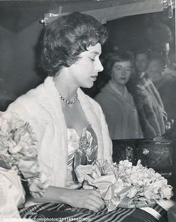 Princess Margaret leaves Covent Garden