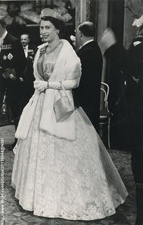 H.M.Queen Elizabeth at gala performance