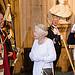 Queen departs