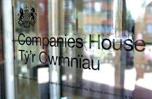Companies House signage