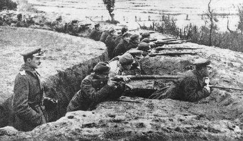 Battle of Niemen, 1920. fot. Archiwum Ilustracji WN PWN SA © Wydawnictwo Naukowe PWN. Public Doman