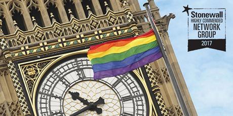 Big Ben with Rainbow flag