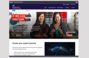 Exporting is GREAT website